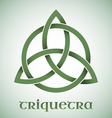 Triquetra symbol with gradients vector image vector image