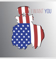uncle sam want you silhouette vector image vector image