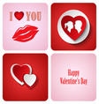 Valentine red decoration card made from white vector image vector image