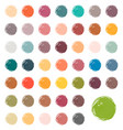 watercolour blobs stains splashes vector image vector image