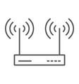 wifi router thin line icon electronic and network vector image vector image