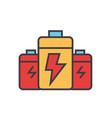 battery energy power flat line vector image