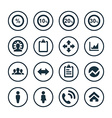 analytics research icons universal set vector image