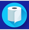 Flat Toilet Paper Icon vector image