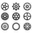 A set of gears and pinions vector image vector image