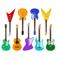 acoustic and electric guitars set musical vector image