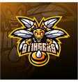 angry bee mascot logo design