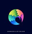 armadillo design template vector image