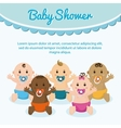 Baby boy and girl cartoon design vector image vector image