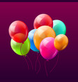 balloon brunch background greeting happy vector image vector image