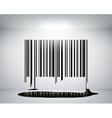 barcode on the wall vector image vector image