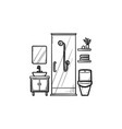 bathroom hand drawn outline doodle icon vector image