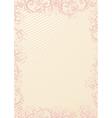 beige floral wallpaper vector image vector image