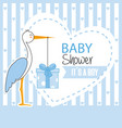 boy baby shower vector image vector image