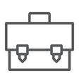 briefcase line icon bag and suitcase case sign vector image vector image