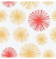 Bright seamless pattern with hand drawn floral vector image vector image