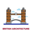 british architecture promo poster with famous vector image