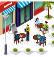 business lunch people composition vector image vector image