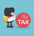 businessman break big tax vector image vector image