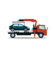 car evacuating broken or damaged auto isolated on vector image vector image