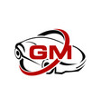 car with gm letter vector image