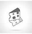 Cheese black line icon vector image vector image