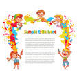 children draw abstract spots vector image vector image