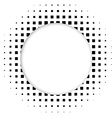 Circle halftone element for your design Technology vector image vector image