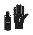 cleaning disinfection antiseptic spray bottle vector image vector image