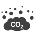 co2 gas emission flat icon symbol vector image