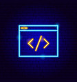 coding neon sign vector image