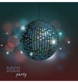 colorful of disco ball vector image vector image