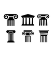 column icons vector image vector image
