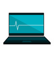 Computer laptop with cardiology application vector image
