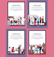 corporate party set of four vector image vector image
