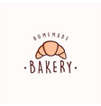 croissant bakery and dessert logo sign template vector image vector image