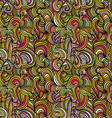 curly lines seamless pattern hand drawn colorful vector image vector image