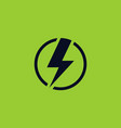 electricity icon in circle lightning sign vector image