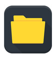 Empty folder with paper flat app icon with long vector image vector image