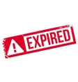 Expired rubber stamp vector image vector image