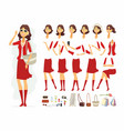 fashionable woman - cartoon people vector image