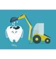 Filling tooth vector image vector image