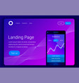 financial analytics mobile app concept vector image vector image