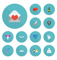 flat icons fizz couple jewelry and other vector image vector image