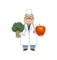 flat male doctor nurse in medical clothing vector image vector image