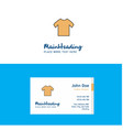 flat shirt logo and visiting card template vector image vector image