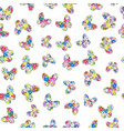 floral patterned butterflies seamless pattern vector image vector image