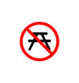 forbidden chair icon can be used for web logo vector image