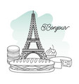 france paris architecture vector image