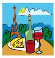 french wine vector image vector image